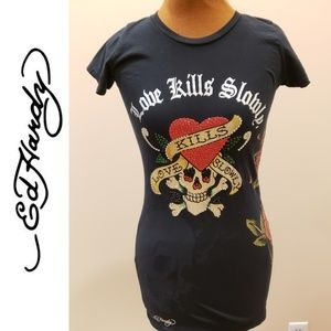 🚨ED HARDY Love Kills Slowly Tee Shirt